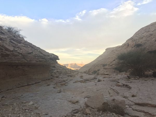 Sha'ib Loha Valley Mountain Nature Sky Scenics Beauty In Nature Tranquility Tranquil Scene Landscape Cloud - Sky No People Outdoors Desert