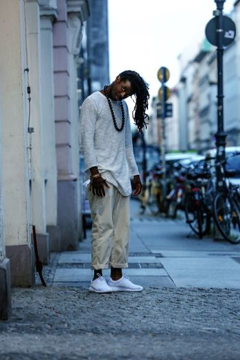 Long Twisted Hair One Person Real People Street Berlin City Outdoors Lifestyles Casual Clothing Men Street Art Fashion Week Berlin All White Day Young Adult Black Man Hairstyle