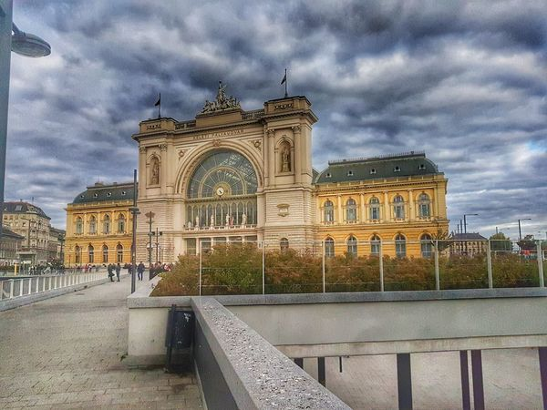 Cloud - Sky Architecture Built Structure Sky Building Exterior Travel Destinations History Outdoors Day S7 Edge Photography Mobilephotography S7 Edge Budapest Keleti Railway Station HDR Daylight Photography