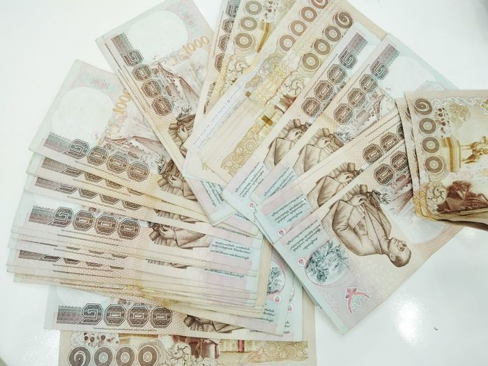 Finance Paper Currency Wealth Currency Business Close-up Indoors  No People Fanned Out Day แบงค์ เงิน แบ๊งค์ไทย