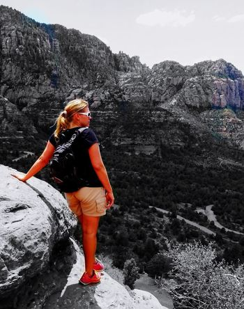 Beautiful Sedona, Az Full Length One Woman Only Only Women One Person Adults Only Adult Young Women Young Adult People Nature Leisure Activity Mountain Climbing Beautiful Woman Sky Adventure