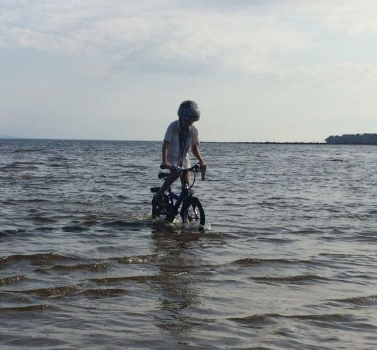 Water Sea Bicycle Biking On Water Water Bike