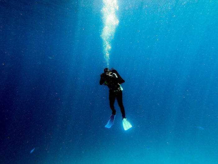 Full length of person swimming in sea