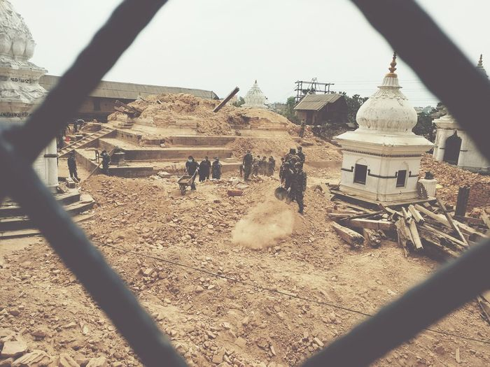 Collapsed Temples. Nepal EarthquakeNepal Earthquake Destruction Devastation Rubble Street Temple PrayforNepal Peace