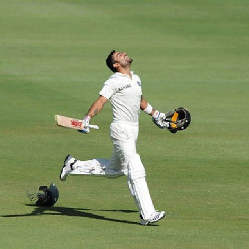 @viratk0511 Viratkohli is finest job in IndVSA . Made fifth hunderd in Testcricket . Cricket testmatch @cricketicc @rcb_official India southafrica