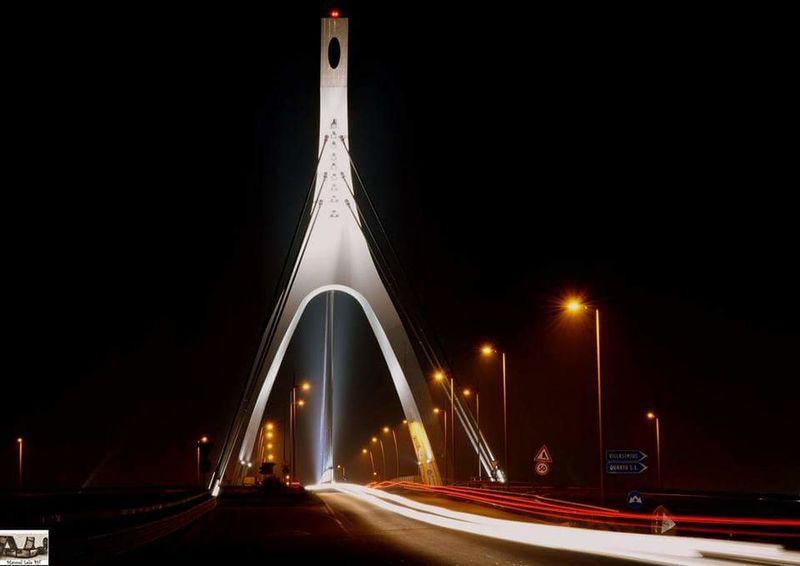 Ponte Emanuela loi Cagliari by night Hello World