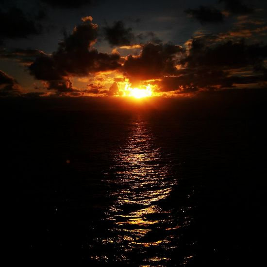 No Filter. Pacific Ocean. A Glimpse of sunset at sea. Throwback. Last month. Memorable tour. First Eyeem Photo