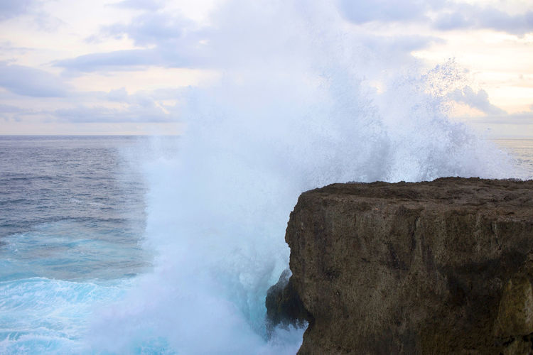 Beauty In Nature Day Landscape Nature No People Outdoors Power In Nature Rock - Object Scenics Sea Sky Water Wave