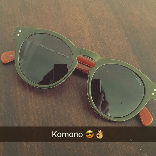 Komono Sunglasses Green&brown Green Brown New Gift Happyme Taking Photos Close-up Loveit Today's Hot Look