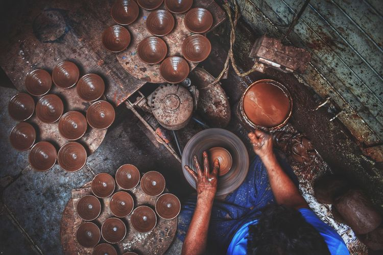 Create. Make It Yourself Circles People Mumbai India Pottery Portrait Looking Down EyeEmNewHere Godiscoversummer Human Hand Close-up Pot