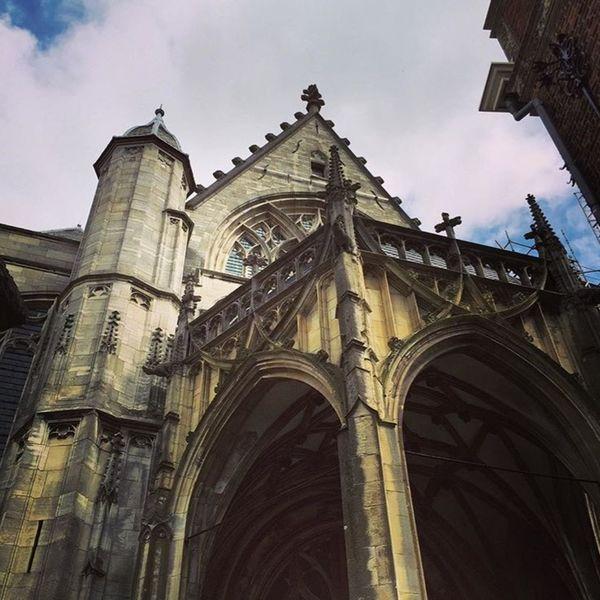 Architecture Netherlands Nijmegen Church Blue Sky Robust Architecture Beautiful