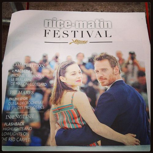 En couverture de Nice Matin Festival ! Michaelfassbender Marioncotillard Nicematin Nicematinfestival macbeth cannes2015