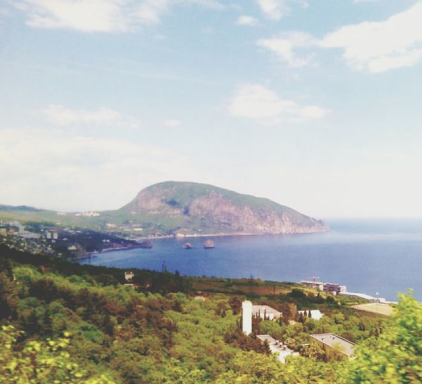 медведь гора еду Алушта трасса небо Крым весна