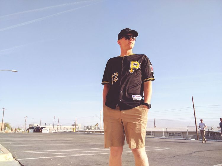 Pittsburgh One Man Only Baseball - Sport Standing Sport Sky Baseball Player Outdoors Clear Sky Young Adult Baseball Cap Portrait People Day Devildog  Marine California High Angle View Human Representation Summer Sunshine Military