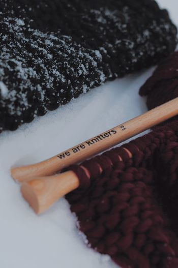 Hobby - knitting. Winter Wintertime Black Close-up Cold Temperature Hobby Knitted  Knitted Sweater Knitting Needle Nature Outdoors Purple Snow Snow Covered Snowflake We Are Knitters Winter Wooden Wooden Needle Wool Wool Balls Wool Hat Woolen Woolly Wooly