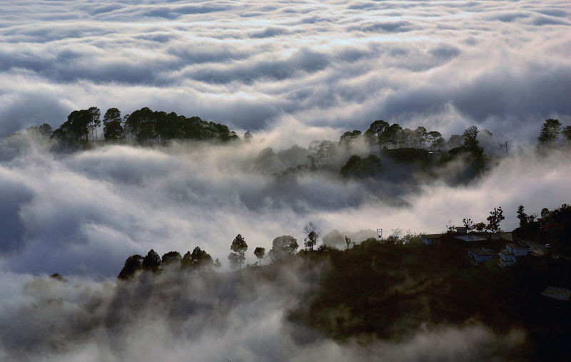 Ocean of Clouds... Winter Winter Fog Wintertime Beauty In Nature Cloud - Sky Clouds Ocean Cloudscape Fog Mountain Nature Ocean Of Clouds Sky Winter Fog Over The City