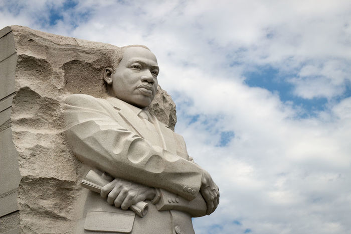 The Martin Luther King Jr. Memorial is located in West Potomac Park next to the National Mall in Washington, D.C. African American I Have A Dream Martin Luther King Jr Travel USA Washington, D. C. Architecture Art And Craft Black Civil Rights  Cloud - Sky Day Granite Human Representation Martin Luther King Memorial  No People Outdoors Sculpture Sky Statue Stone Material Travel Destinations