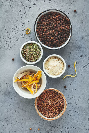 Food And Drink Food Bowl Spice Freshness Indoors  Ingredient Healthy Eating Directly Above No People Wellbeing High Angle View Choice Variation Vegetable Seasoning Still Life Table Lentil Spoon