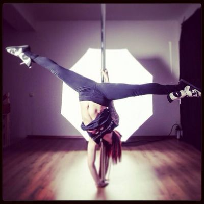 Pole Dancing Red Hair