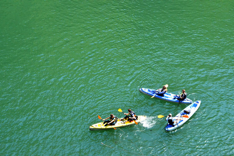 Canyon Matka Day Green Color High Angle View Kayaking Kayaking In Nature Kayakж Leisure Activity Nature Nature Nature_collection Nautical Vessel Outdoors The Great Outdoors - 2017 EyeEm Awards An Eye For Travel