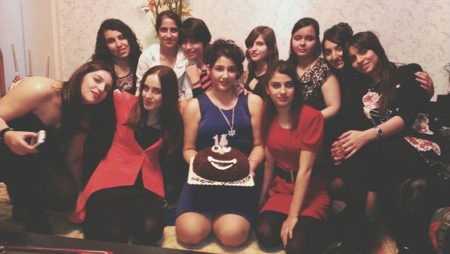 Tonight❤ With My Best Friends ❤ At A Birthday Party happy birthday to U Shervin.I <3 U my dear