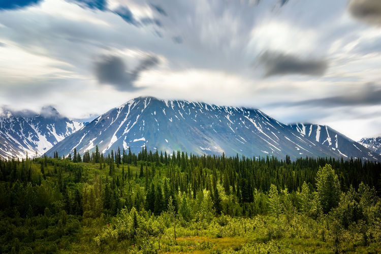 Denali national park, alaskan mountain range
