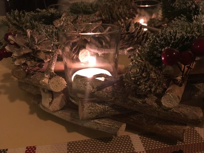 Christmas Around The World Candle Candles Candlelight At The Restaurant Table It's Christmas Time Christmastime Christmas Decorations