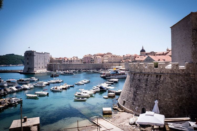 Dubrovnik Dubrovnik Dubrovnik, Croatia Water Architecture Building Exterior Built Structure Sky Nautical Vessel Transportation City Harbor History