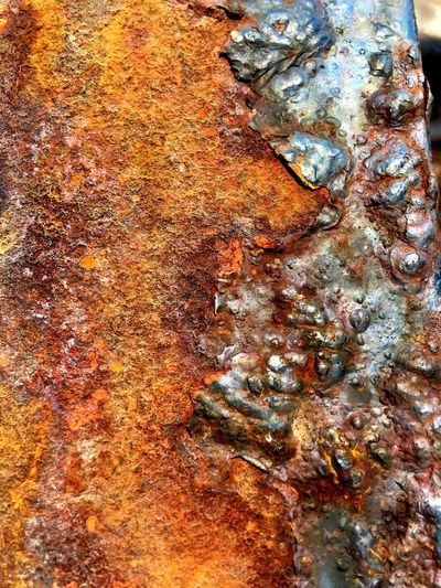 Full frame shot of Rusty texture on metal surface Full Frame Backgrounds No People Close-up Day Nature Water Wet Pattern Textured  High Angle View Decline Beach Outdoors Land Abstract Metal Rusty Beauty In Nature