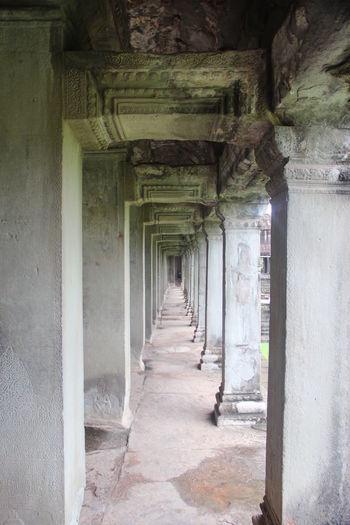 Ankor Thom Ankor Thom Cambodia Ruins Travel Ancient Civilization Architectural Column Architecture Built Structure Corridor History No People