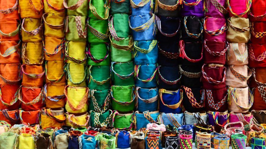 Full frame shot of colorful shop