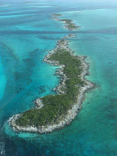 Aerial View Of Archipelago In Caribbean Sea At Exuma