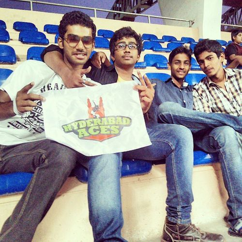 Clgfriends Tennis Tournament Lbstadium BikeRides HomeTeam Cheers Fun Hyderabadaces Championstennisleague :D