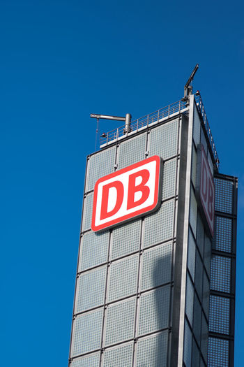 Berlin, Germany - February 6, 2018: Deutsche Bahn sign on skyscraper. Deutsche Bahn AG is a German railway company. The company carries about two billion passengers each year Berlin Berlin Germany Berlin Hauptbahnhof DB Deutsche Bahn GERMANY🇩🇪DEUTSCHERLAND@ German Germany 🇩🇪 Deutschland Germany🇩🇪 Hauptbahnhof Public Transportation Station Transport Transportation Architecture Built Structure Day Germany Hauptbahnhof Berlin Outdoors Public Tranportation Railroad Station Railway Railway Station Text