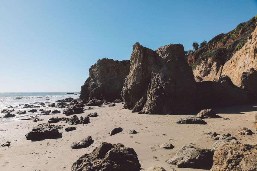 California El Matador Beach Pacific Beach Beauty In Nature Blue Clear Sky Cliff Coast Day Horizon Over Water Nature No People Ocean Outdoors Rock Rock - Object Rock Formation Sand Scenics Sea Shore Sky Tranquil Scene Tranquility Water California Dreamin
