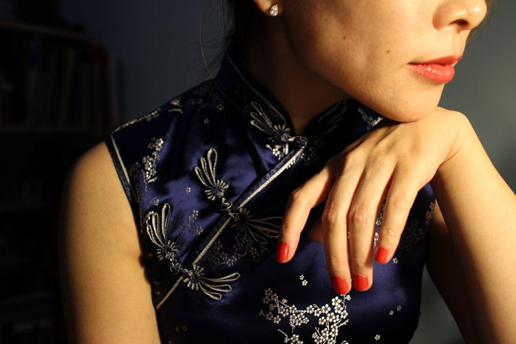 Showcase: February Lasian Traditional Chinese Dress Qipao My Blue Obsession Chinese New Year Narcissistic Tendencies CNY 2016 Redlips💋 Me The Purist (no Edit, No Filter) The New Self-Portrait