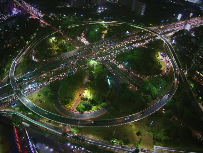 bird view of semanggi interchange from alt 150 mtrs DJI X Eyeem Skyphotography Skygrapher Indonesiatravel EyEmNewHere EyeEm Best Shots Midrone Aerial Photography Aerialview Night Outdoors Tree No People Illuminated Close-up Water Sky Mobility In Mega Cities