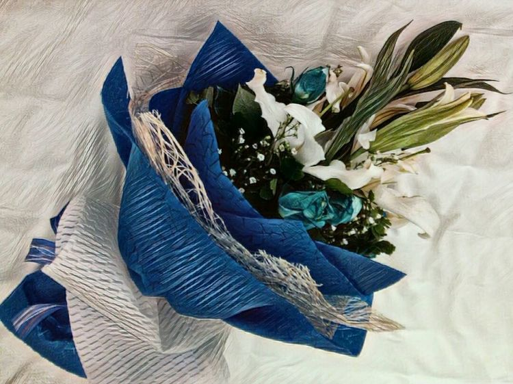 Flower Beautiful Blue Roses Boquet Of Flowers Love Flowers