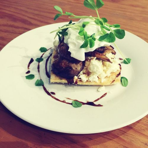 Garlic Mushrooms and ricotta toast with poached egg Breakfast Breakfast In Sydney Weeklyspecial Limitedtimeonly Vegetarian