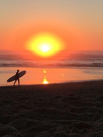 SurferSunset at the Atlantic Ocean