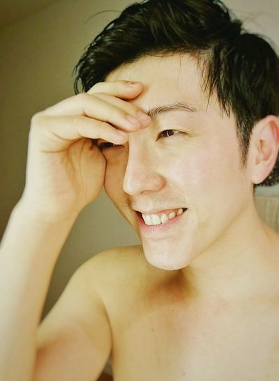 Smile ....keep smiling Headshot Human Face One Person Only Men Handsome Beautiful People Adults Only One Man Only Moisturizer Adult Close-up Beauty Shirtless