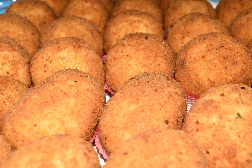 Arancine Arancini Balls Cheese Crispy Croquette Finger Food Relaxing Rice Sicily Street Food Tomato Traditional Typical