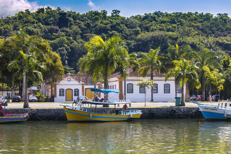 Boat Canal Nautical Vessel Outdoors Trip Tropical Tropical Forest Vacation Voyage Water Paraty