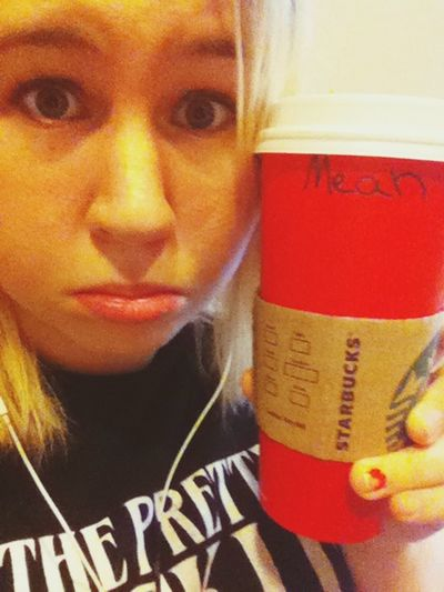 """After I defend you, Starbucks, and you write """"Mean"""" on my cup?:c WeirdWayToSpellMia"""
