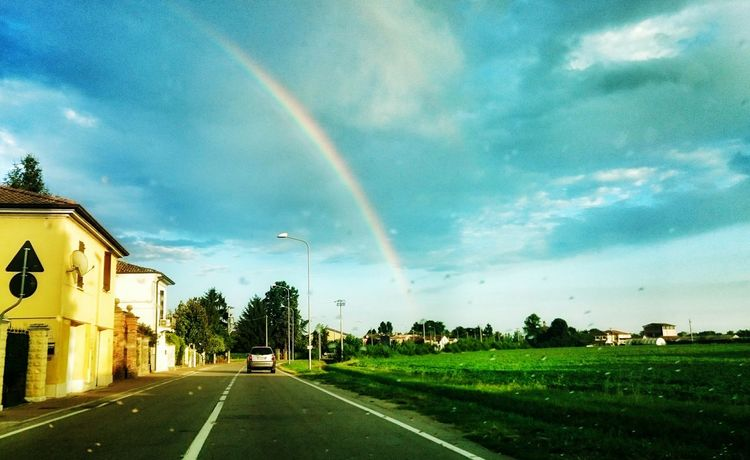 Arcobaleno  Clouds And Sky Rainbow Rain Mantova Sunset Igersmantova Clouds Photography SonyXperiaZ3Compact