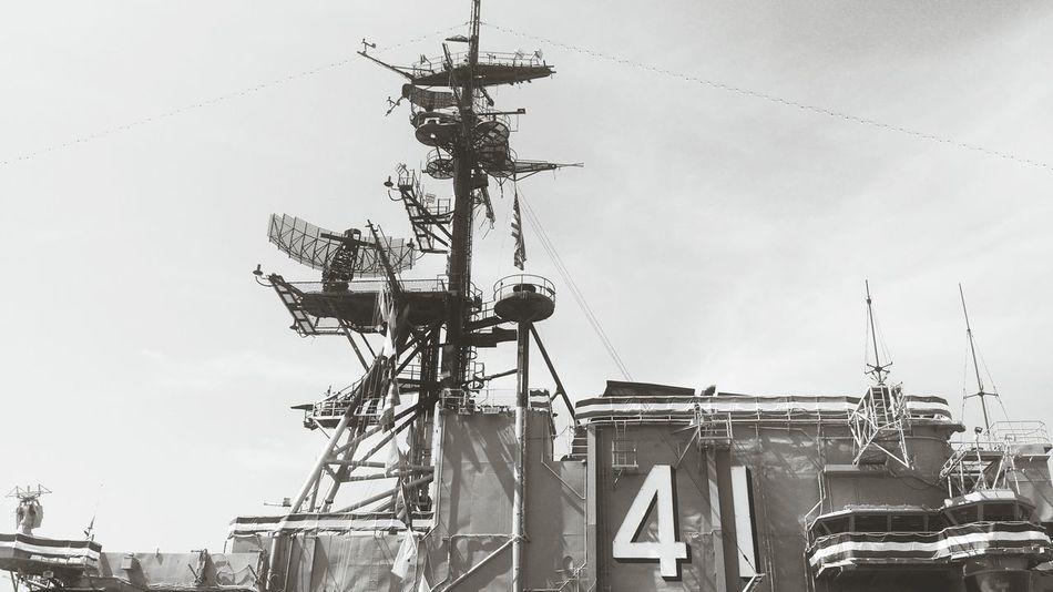 Taking Photos USS Midway  Black & White Taking Photos