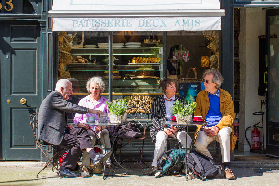 Elderly tourists taking a break and sitting at the outdoor tables of a small French cafe or Patisserie on the streets of London. Cafe City City Break Continental Couple Couples Elderly Couple French French Cafe London London_only LONDON❤ Outdoor Tables Patisserie Residential Structure Take A Break Tea Tea Time Teatime Together London Lifestyle Tourism Traveling Traveller Weary EyeEm LOST IN London