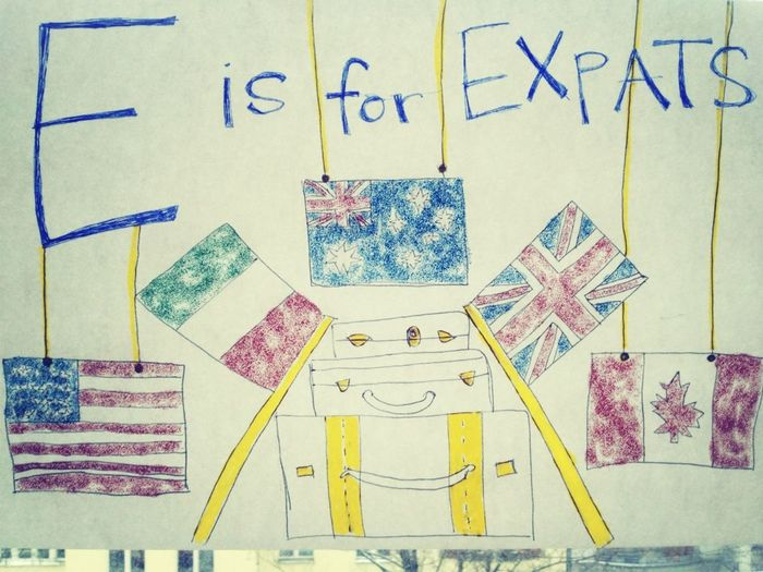 E is for expats.
