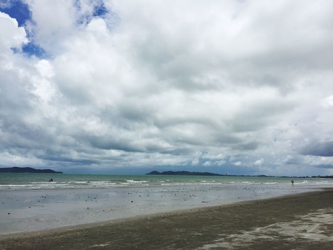 Sea Beach Water Sky Scenics Sand Cloud - Sky Beauty In Nature Horizon Over Water Nature Tranquility Tranquil Scene Day Outdoors No People Wave