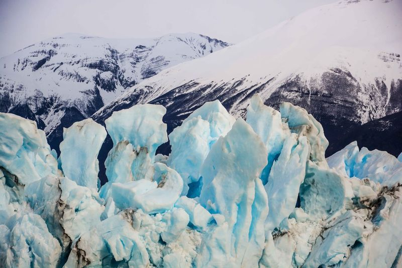 Perito Moreno Glacier, El Calafate, Santa Cruz, Argentina. Beauty In Nature Cold Temperature Day Horizontal Ice Landscape Mountain Nature No People Outdoors Scenics Sky Snow Winter